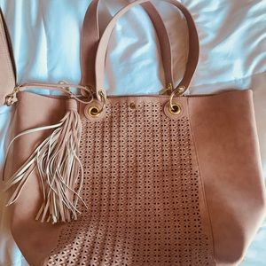 Steve Madden Tote with Matching Saddlebag